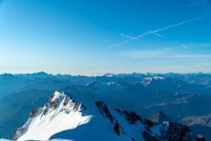 Vue du Sommet du Mont Blanc