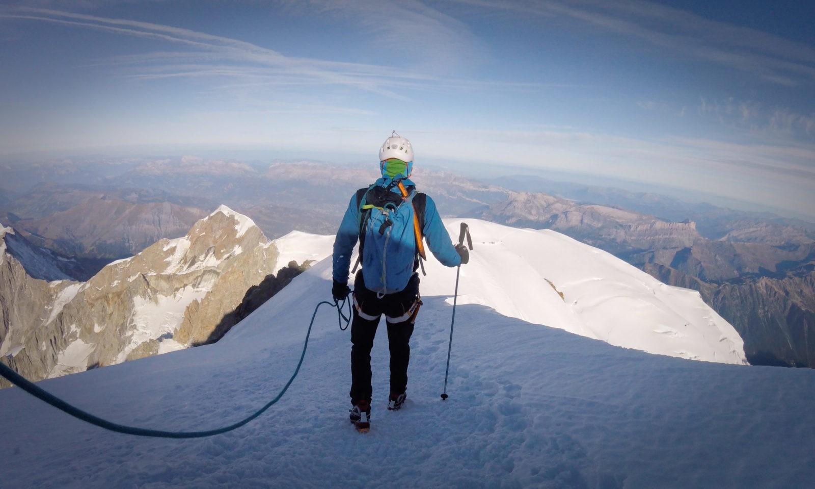 Descente du Mont Blanc dans le cadre d'un protocole de recherche - Exalt
